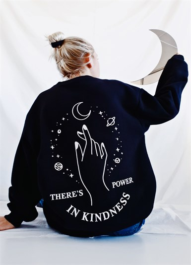 Theres Power In Kindness Oversize Sweatshirt
